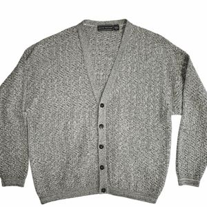 "David Taylor ""grandpa"" heather gray cardigan XL"